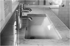 undermount trough bathroom sink with two faucets for sale elysee