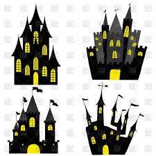 set of halloween black castles vector image 107597 u2013 rfclipart