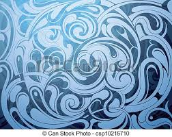 vector clip of water surface liquid ornament with water wave