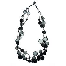black necklace images Black multi circle disc necklace the getty store jpg