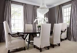 curtains for dining room ideas sophisticated gray dining room features oval dining table