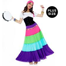 deluxe plus size halloween costumes renaissance gypsy plus size costume buycostumes com