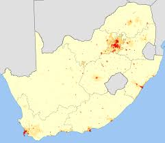 Map South Africa File South Africa 2001 White Population Density Map Svg