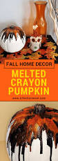 melted crayon pumpkin tutorial perfect for fall or halloween decor fall melted crayon pumpkin unique pumpkin decoration perfect for fall or halloween decor