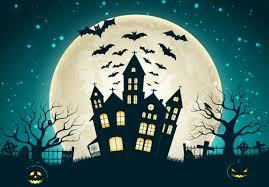 halloween full moon background 720x1280 creepy full moon castle bat evil pumpkin horror