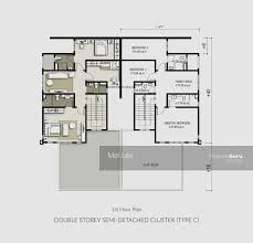 Cluster House Plans Semi Detached House Plans Malaysia House Plans