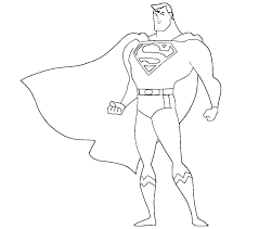superman clipart coloring sheet pencil and in color superman