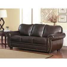 Abbyson Leather Sofa Reviews Abbyson Richfield Top Grain Leather Sofa Free Shipping Today