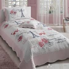 Eiffel Tower Bed Set 100 Cotton Paris Eiffel Tower Twin Bedspread Cover Set 3 Pcs