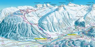 Fla Map Ski Map Engadin St Moritz Switzerland