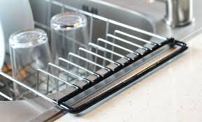 Dish Drainer Rack Over Sink Holder Drying Kitchen Organizer - Kitchen sink plate drainer