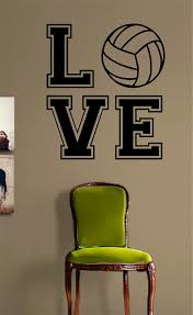 quote to decorate a room volleyball love v2 quote design sports decal sticker wall vinyl