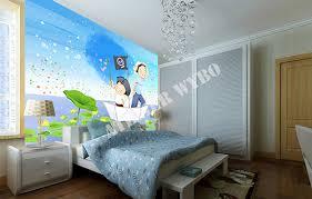 chambre bateau pirate tête de lit panoramique papier peint textile sans raccord