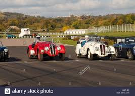 Classic Sports Cars - classic sports cars on the start line at goodwood with the vintage