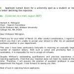 college rejection letter template 27 rejection letters templates