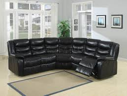 Black Leather Sectional Sofa Recliner Sectional Sofas Leather Sectional Sofa Recliner Inside Black