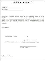 professional example of affidavit form with green header and
