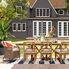 Teak Outdoor Dining Table And Chairs Somerset Teak Outdoor Dining Table Williams Sonoma