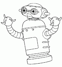 coloring pages robots coloring