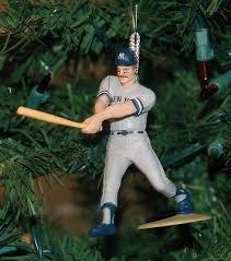New York Yankees Christmas Tree Ornament by Don Mattingly New York Yankees On Deck Pose 23 Baseball Christmas