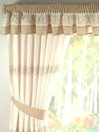 retro kitchen curtains uk natural cream embroidered curtain pelmet