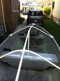 fourtitude com diy boat cover or tarp support duck boat
