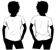 vector girls t shirt template front and back free vectors