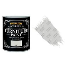 rust oleum dove grey gloss chalky furniture paint vintage shabby