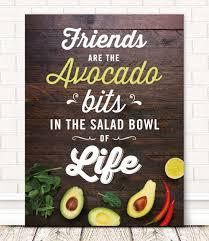 friendly avocado quote wall art