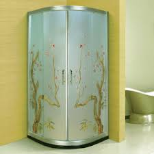 china beauty manual carving art glass bathroom shower cabin a 093
