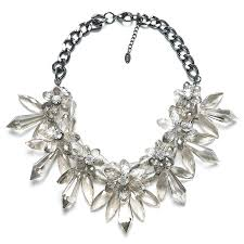 crystal necklace statement images Zara crystal flower statement necklace jpg