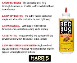 Harris Bed Bug Killer Reviews How To Use Bed Bug Powder To Eliminate The Critters In Your