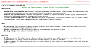 Example Federal Resume by Knowledge Skills And Abilities Samples For Jobs
