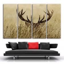 Whitetail Deer Home Decor by Extra Large Whitetail Deer Animal Contemporary Canvas Wall Art