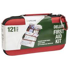 amazon com lifeline 121 piece first aid kit red camping