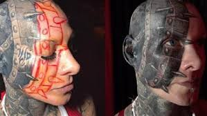 event horizon face tattoo woman with u0027successful career u0027 gets