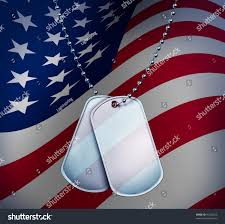 A American Flag Pictures Dog Tags American Flag On Blank Stock Illustration 91726223