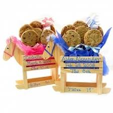 Cookie Gifts Baby Boy Or Rocking Horse 6 Gourmet Cookie Bouquet By The