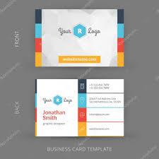 vector modern creative business card template flat design eps 10