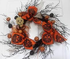 halloween sugar skull wreath home decor halloween decorations