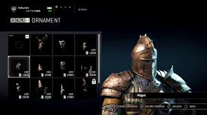 for honor all warden ornaments customization