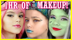 1 hour of monster high doll makeup tutorials costume halloween