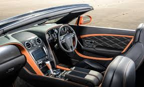 bentley door 2015 bentley continental gt interior orange and black interior