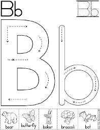 abc worksheet letter b alphabet letter b worksheet preschool