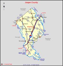 county map of sc jasper county south carolina