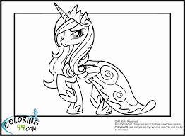 pony coloring pages princess cadence wedding kids coloring