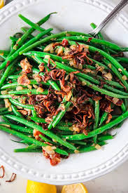 cuisine haricots verts haricots verts with bacon and fried shallots tipps in the kitch