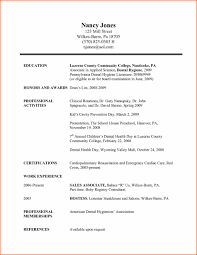 American Resume Example Dental Resume Orthodontic Assistant Templates Resume Resume