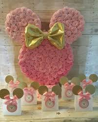 minnie mouse party pink and gold minnie mouse piñata gold minnie mouse party favors