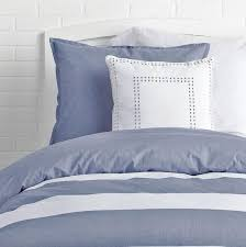 Chambray Duvet Cover Queen Classic Chambray Stripe Reversible Duvet Cover And Sham Set U2013 Dormify